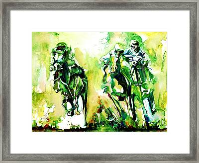 Derby Race.1 Framed Print by Fabrizio Cassetta
