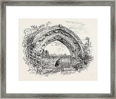 Derby, Ruined Arch Leading To Vestibule Of The Chapter-house Framed Print