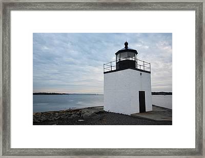 Derby Wharf Light Salem Ma Framed Print by Toby McGuire