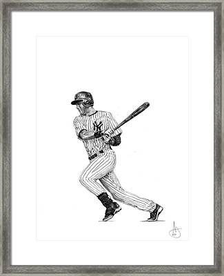 Derek Jeter 2 Framed Print