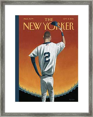 Derek Jeter Bows Out Framed Print