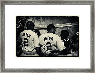 Derek Jeter Family New York City Framed Print