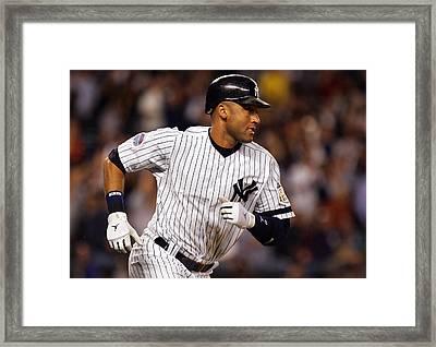 Derek Jeter New York Yankees Framed Print by Retro Images Archive