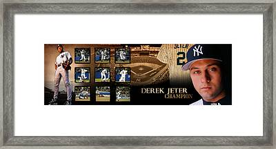 Derek Jeter Panoramic Art Framed Print by Retro Images Archive