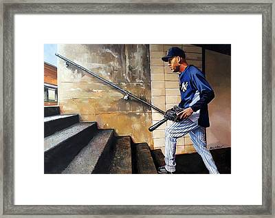 Derek Jeter's Final Game Framed Print by Michael  Pattison