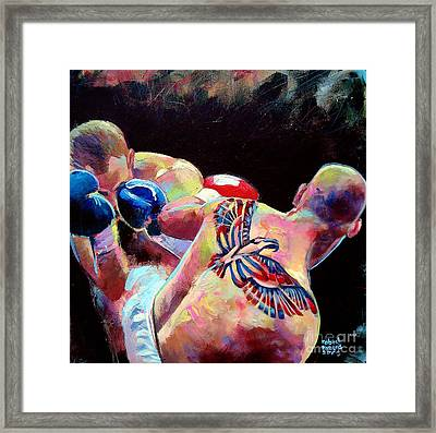 Framed Print featuring the painting Derek Panza by Robert Phelps
