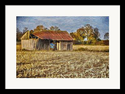 Autumn In The Country Digital Art Framed Prints