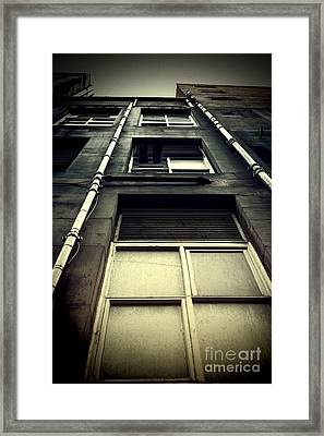 Framed Print featuring the photograph Derelict Building by Craig B