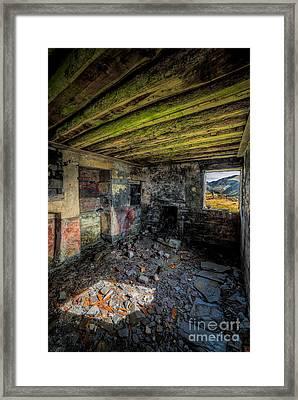 Derelict Cottage Framed Print by Adrian Evans