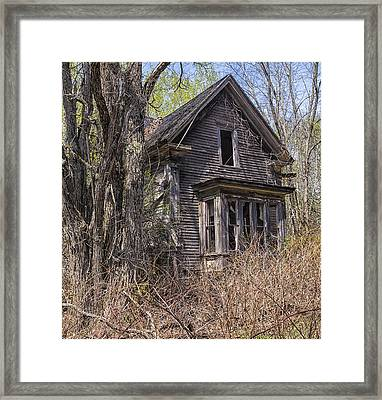 Framed Print featuring the photograph Derelict House by Marty Saccone