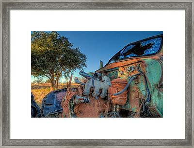 Derelict Framed Print by Micah Goff