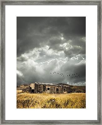Derelict Rural Building Framed Print by Amanda Elwell