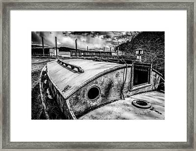 Derelict Sailboat Framed Print by Paul Haist