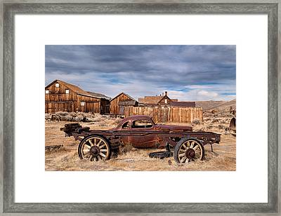 Derelict Transport In Bodie Ghost Town Framed Print