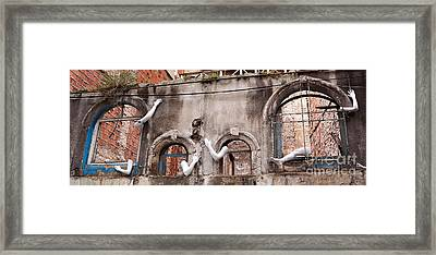 Derelict Wall Of Lost Limbs 02 Framed Print by Rick Piper Photography