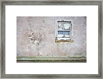 Derelict Window Framed Print
