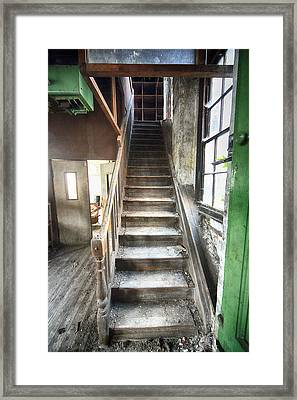 Derelict Wooden Staircase Framed Print by Russ Dixon
