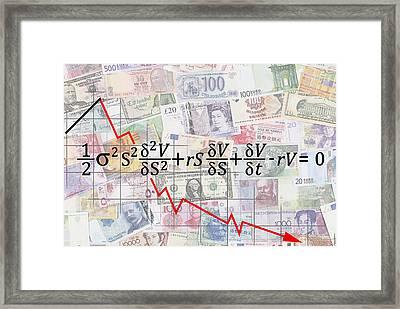 Derivatives Financial Debacle - Black Scholes Equation Framed Print by Daniel Hagerman