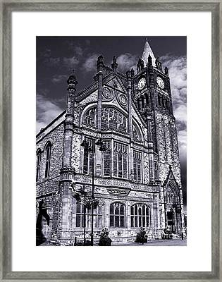 Derry Guildhall Framed Print by Nina Ficur Feenan