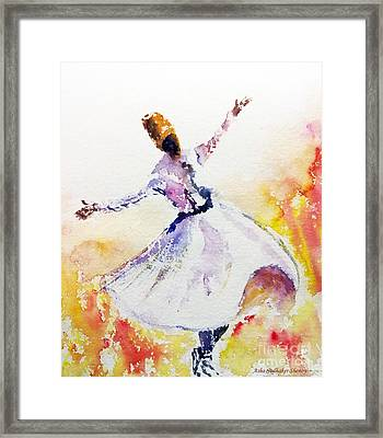 Sufi  Or Dervish Dancer Framed Print