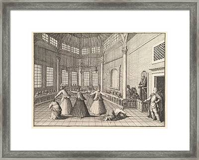 Dervishes Dancing Framed Print by Celestial Images