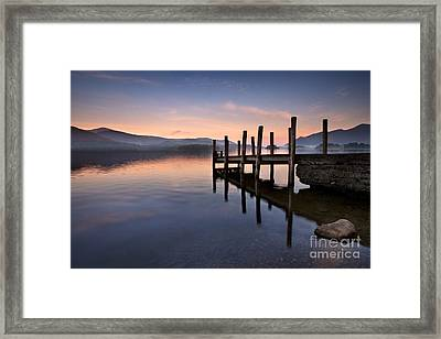 Derwent Water Jetty Framed Print by Rod McLean