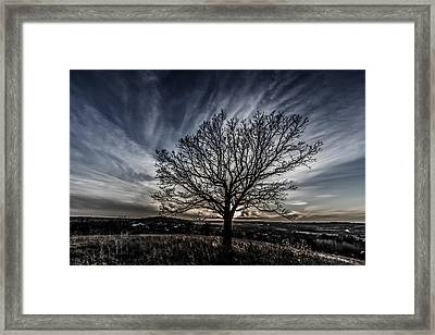 Desaturated Sunset Framed Print