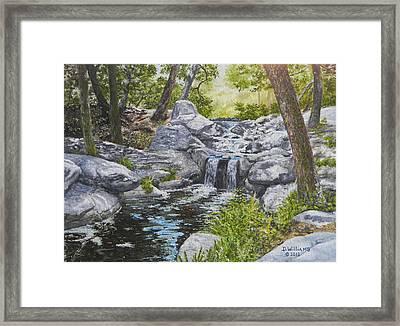 Descanso Falls Framed Print
