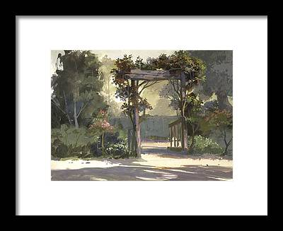 Trellis Framed Prints