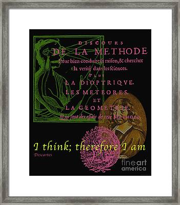 Descartes Framed Print