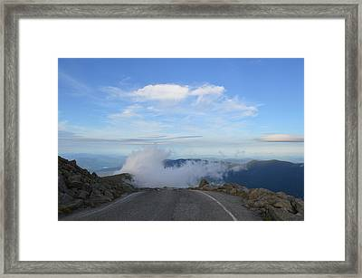Descending Into The Clouds Framed Print