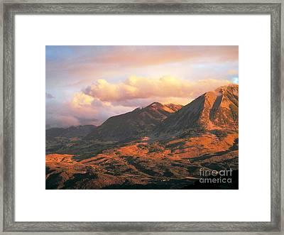 Descending To Splendor  Framed Print