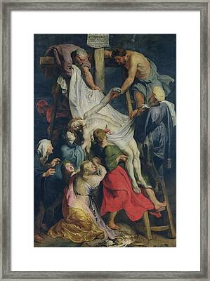 Descent From The Cross, 1617 Framed Print by Peter Paul Rubens