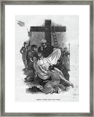 Descent From The Cross Framed Print by Granger