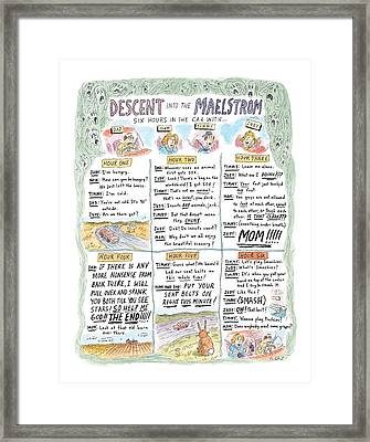 Descent Into The Maelstrom Framed Print