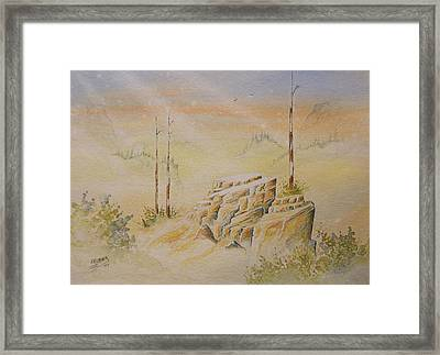 Framed Print featuring the painting Deschutes Canyon by Richard Faulkner