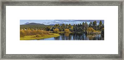 Deschutes River Panorama Framed Print by Twenty Two North Photography
