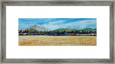 Deschutes River View Framed Print by Terry Holliday