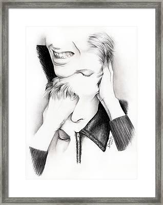 Desconstruction Of David Bowie Framed Print