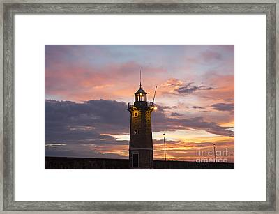 Desenzano Del Garda The Old Harbor Lighthouse Framed Print by Kiril Stanchev