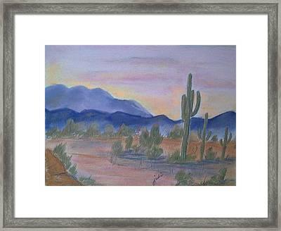 Desert Aglow Framed Print by Judi Pence