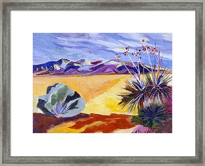 Desert And Mountains Framed Print