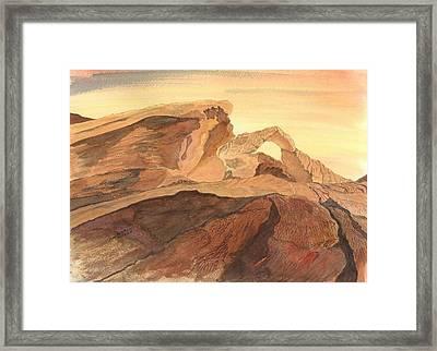 Desert Arch Framed Print