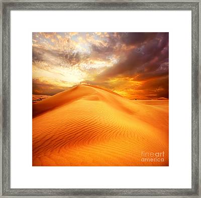 Framed Print featuring the photograph Desert Art by Boon Mee