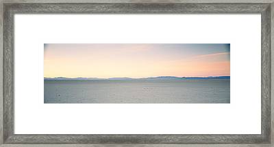Desert At Sunrise, Black Rock Desert Framed Print by Panoramic Images