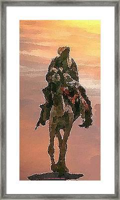 Desert. Bedouin. Framed Print