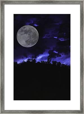 Desert Blue Framed Print by Alfredo Martinez