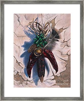 Desert Bow Framed Print by Ricardo Chavez-Mendez