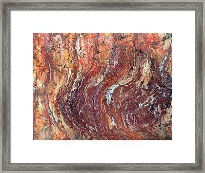 Desert Canyon Framed Print by Jane Biven