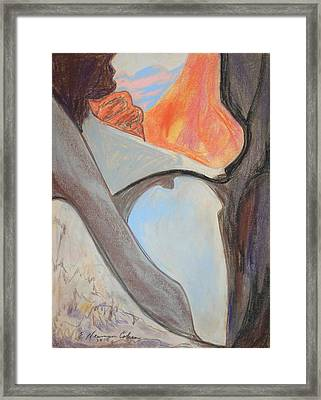 Desert Canyon Pool In The Negev Framed Print by Esther Newman-Cohen